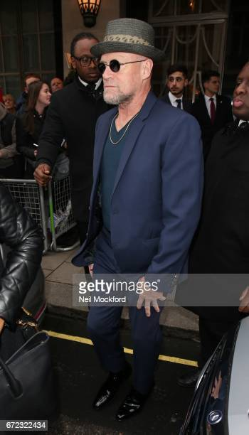 Michael Rooker seen leaving Claridges Hotel to attend the Guardians of the Galaxy Vol 2 screening on April 24 2017 in London England