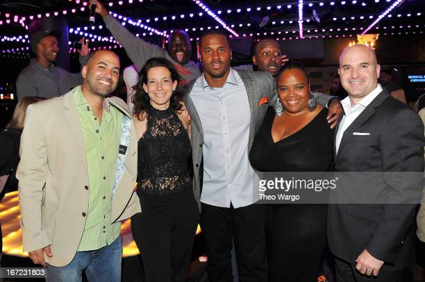 Michael Rose Jenny Goldstock Wright James Anderson Isha Price and Alan Sacks attend Driving Force Giving Circle Karaoke Kickoff Event at Jelsomino on...