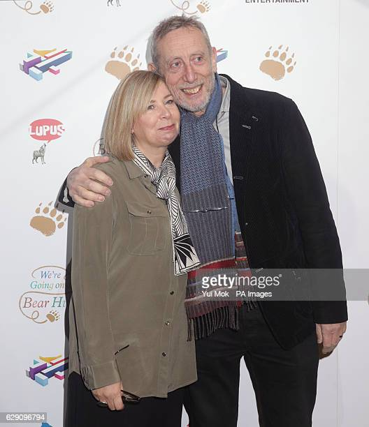 Michael Rosen and his wife EmmaLouise Williams attend a screening of We're Going on a Bear Hunt at the Empire Leicester Square in central London