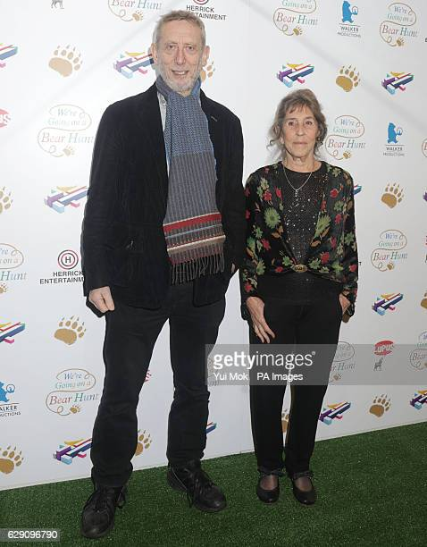 Michael Rosen and illustrator Helen Oxenbury attend a screening of We're Going on a Bear Hunt at the Empire Leicester Square in central London