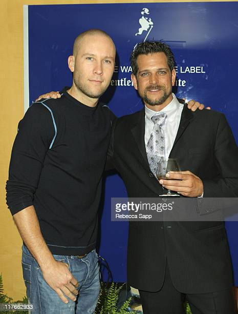 Michael Rosenbaum and Rick Edwards of Johnnie Walker
