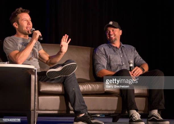 Michael Rosenbaum and Tom Welling during the 'Back to Smallville' panel at the Wizard World Chicago ComicCon at Donald E Stephens Convention Center...