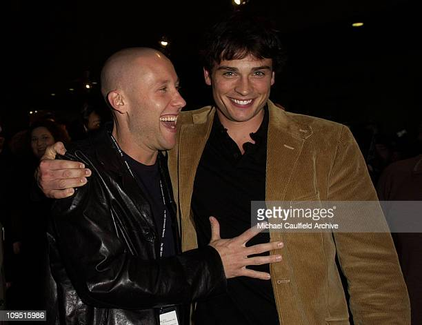 Michael Rosenbaum and Tom Welling during The WB Network AllStar Celebration AfterParty at The Highlands in Hollywood California United States