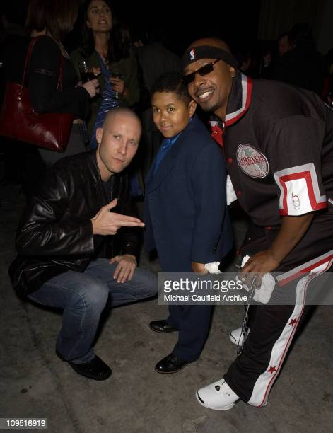 Michael Rosenbaum Emmanuel Lewis and Hammer during The WB Network AllStar Celebration AfterParty at The Highlands in Hollywood California United...