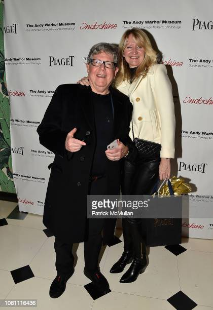 Michael Rosenblum and Lisa Rosenblum attend The Andy Warhol Museum's Annual NYC Dinner at Indochine on November 12 2018 in New York New York