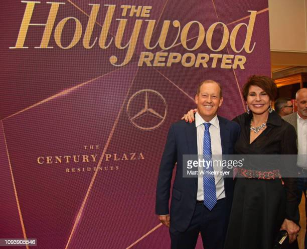 Michael Rosenfeld and Mary Ann Osborn attend The Hollywood Reporter's 7th Annual Nominees Night presented by MercedesBenz Century Plaza Residences...