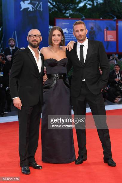 Michael Roskam Adele Exarchopoulos and Matthias Schoenaerts walk the red carpet ahead of the 'Racer And The Jailbird ' screening during the 74th...