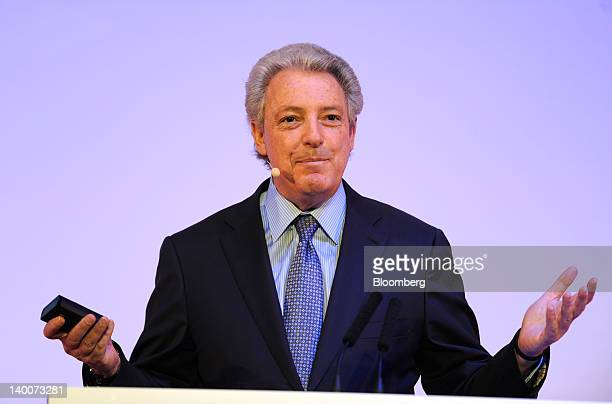 Michael Roth, chairman and chief executive officer of Interpublic Group of Cos., speaks during a keynote speech on the opening day of the Mobile...