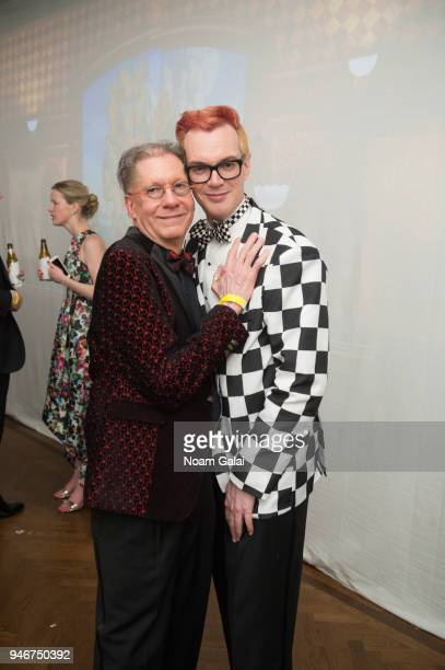 Michael Rouche and Dali Ball cochair Erik Carlson attend the Dali Ball at The National Arts Club on April 13 2018 in New York City
