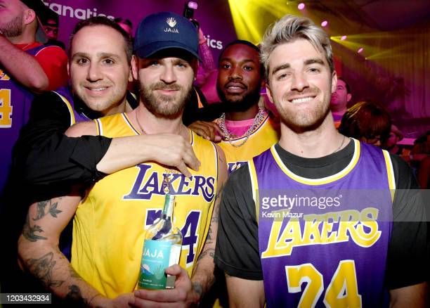 Michael Rubin Alex Pall Meek Mill and Andrew Taggart attend Michael Rubin's Fanatics Super Bowl Party at Loews Miami Beach Hotel on February 01 2020...