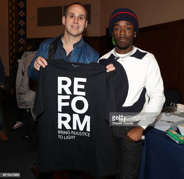 Michael Rubin and Lil Uzi Vert attend Reform Bringing Injustice To Light at Irvine Auditorium on March 13 2018 in Philadelphia Pennsylvania