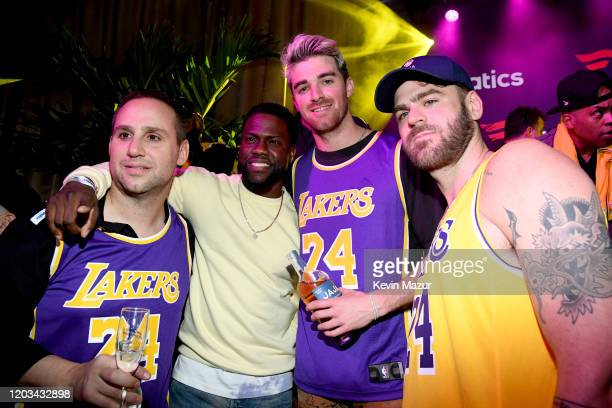 Michael Rubin Kevin Hart Andrew Taggart and Alex Pall attend Michael Rubin's Fanatics Super Bowl Party at Loews Miami Beach Hotel on February 01 2020...