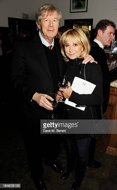 Michael Rudman and Felicity Kendal attend an after party following the press night performance of 'Peter And Alice' at The National Cafe on March 25...