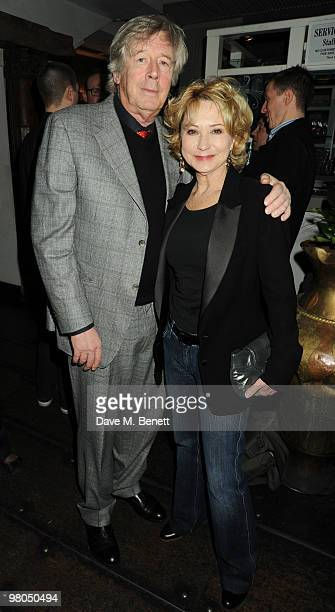 Michael Rudman and Felicity Kendal attend the 'Mrs Warren's Profession' press night after party at Jewel on March 25 2010 in London England