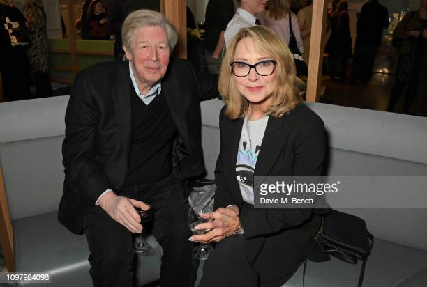 Michael Rudman and Felicity Kendal attend the press night after party for The Price at The National Cafe on February 11 2019 in London England
