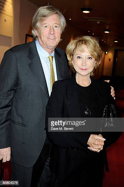 Michael Rudman and Felicity Kendal attends the reception for the Evening Standard Theatre Awards 2008 at the Royal Opera House on November 24 2008 in...