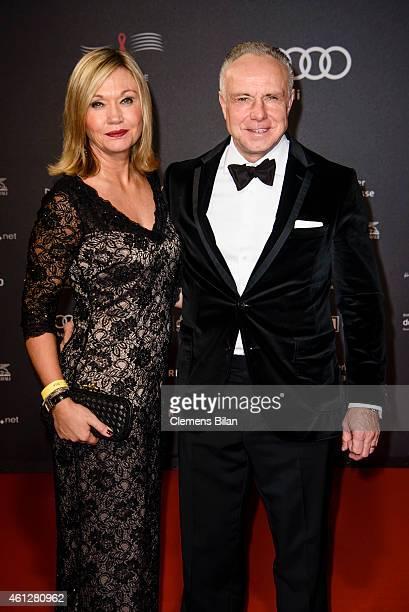 Michael Rummenigge and Carolin Rummenigge attend the 21st Aids Gala at Deutsche Oper Berlin on January 10 2015 in Berlin Germany