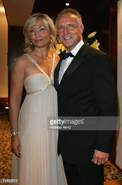 Michael Rummenigge and wife Caroline attend the golden Sportpyramide award at the Adlon Hotel on May 25 2007 in Berlin Germany