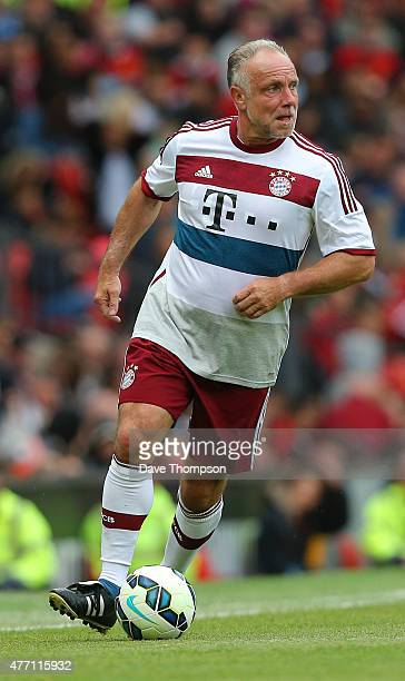 Michael Rummenigge Bayern Munich All Stars during the Manchester United Foundation charity match between Manchester United Legends and Bayern Munich...