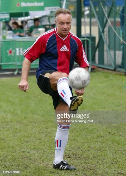 Michael Rummenigge warming up for HKFC International Soccer 7's 2004 in Hong Kong Football Club 29 May 2004