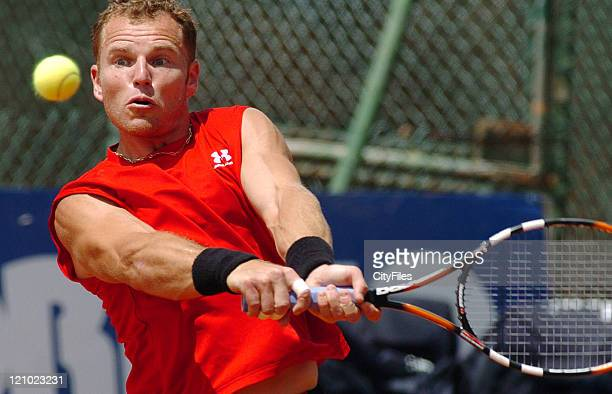 Michael Russell during the match against Garcia Lopez at the 2007 Estoril Open in Estoril Portugal on May 1 2007
