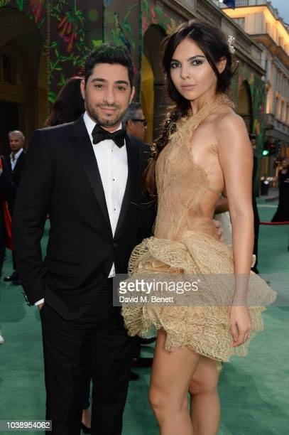 Michael Russo and Doina Ciobanu wearing JeanLouis Sabaji Couture attend The Green Carpet Fashion Awards Italia 2018 at Teatro Alla Scala on September...