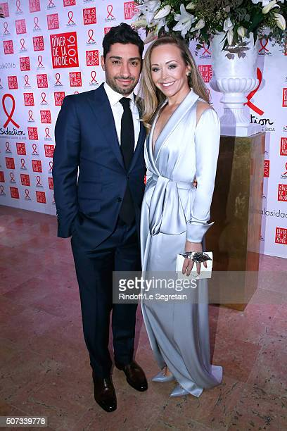 Michael Russo and Tamara Ralph attend the Sidaction Gala Dinner 2016 as part of Paris Fashion Week Held at Pavillon d'Armenonville on January 28 2016...