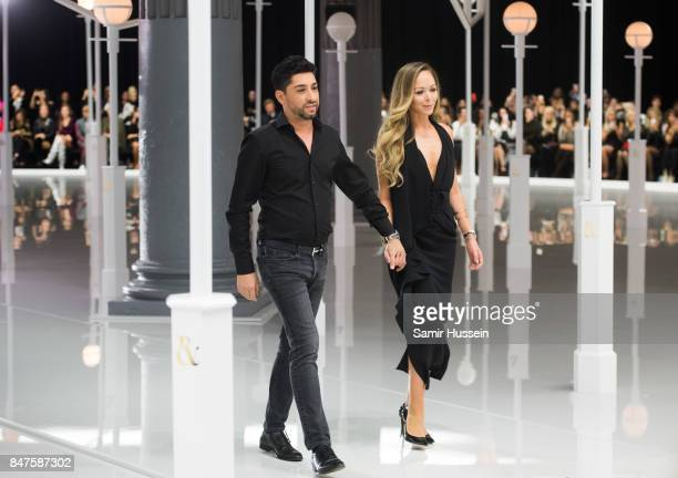Michael Russo and Tamara Ralph walk the runway at the Ralph Russo show during London Fashion Week September 2017 on September 15 2017 in London...