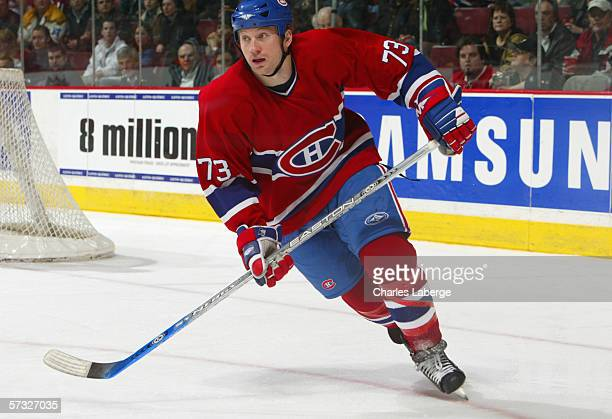Michael Ryder of the Montreal Canadiens skates during the game against the Washington Capitals at the Bell Centre on March 30 2006 in Montreal Canada