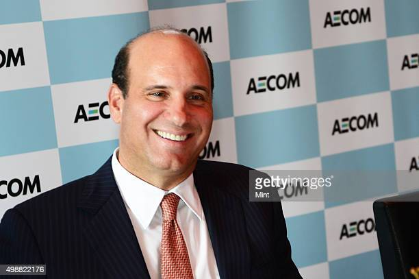 Michael S Burke Chairman and Chief Executive Officer AECOM during a press conference on March 12 2015 in New Delhi India