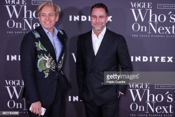 Michael S. Smith and James Costos attend the 'Vogue Who's On Next' awards photocall at Fernan Nunez Palace on May 24, 2018 in Madrid, Spain.