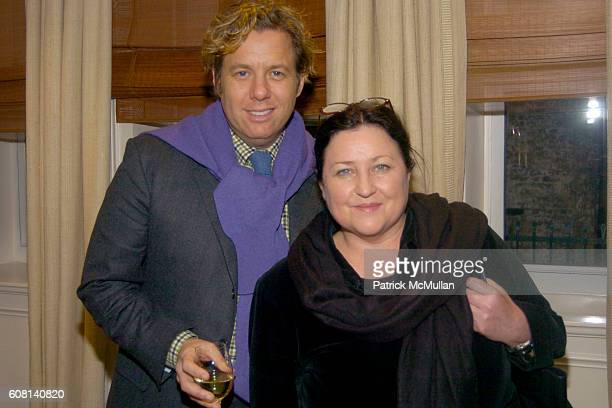 Michael S Smith and Tricia Foley attend MICHAEL S SMITH AGRARIA COLLECTION LAUNCH at Lowell Hotel on April 18 2007