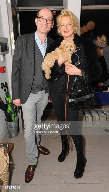Michael Sacher and Alison Jackson attend Luxury dog cat outfitters Mungo Maud invite fourlegged guests with VIP owners to launch their collaboration...