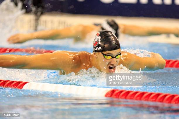 Michael Salazar competes in the men's 200m butterfly prelims at the 2018 TYR Pro Series on July 8 2018 in Columbus Ohio