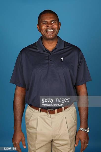 Michael Sanders Assistant Coach of the Utah Jazz poses for a photo during 2013 Media Day at Zions Basketball Center on September 30 2013 in Salt Lake...