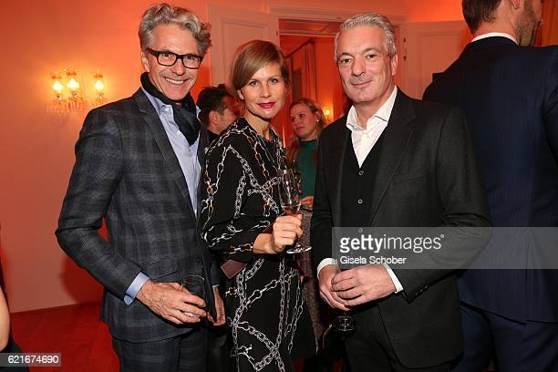 Michael Sandvoss Anja Kaehny and Alois Loews during the birthday party for the 10th anniversary of ICON at Nymphenburg Palais No 6 on November 7 2016...
