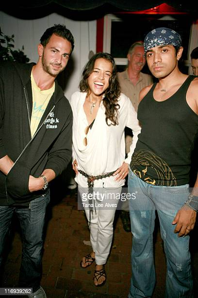 Michael Satsky Michelle Rodriguez and Anand Jon during Nature Santuary benefit hosted by Anand Jon and Michelle Rodriguez at Star Room in Wainscott...