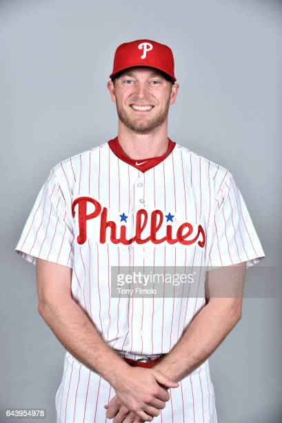 Michael Saunders of the Philadelphia Phillies poses during Photo Day on Monday February 20 2017 at Spectrum Field in Clearwater Florida