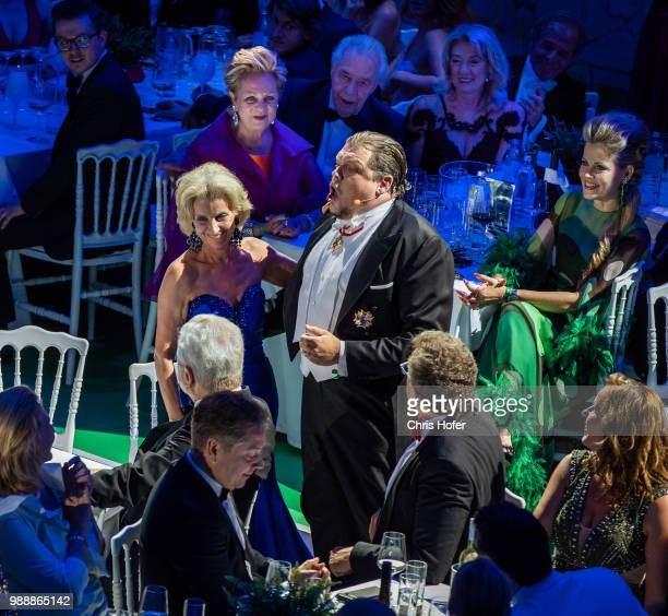 Michael Schade performing and Elisabeth Guertlerrk during the Fete Imperiale 2018 on June 29 2018 in Vienna Austria