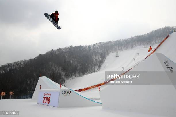 Michael Schaerer of Switzerland competes during the Men's Slopestyle qualification on day one of the PyeongChang 2018 Winter Olympic Games at Phoenix...