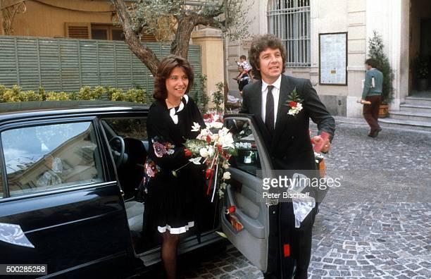 """""""Michael Schanze, Ehefrau Monika, Hochzeit am in Monte Carlo, Monaco. """""""