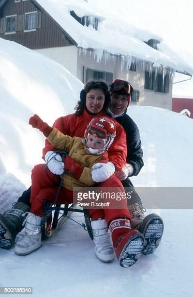 'Michael Schanze Ehefrau Monika Schanze Florian Schanze SkiUrlaub am in Engelberg Schweiz '