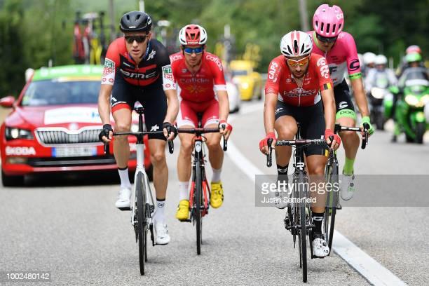 Michael Schar of Switzerland and BMC Racing Team / Thomas De Gendt of Belgium and Team Lotto Soudal / Dimitri Claeys of Belgium and Team Cofidis /...