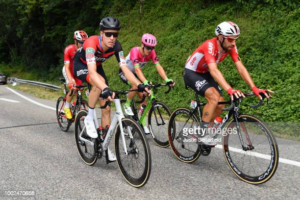 Michael Schar of Switzerland and BMC Racing Team / Thomas Scully of Australia and Team EF Education First Drapac P/B Cannondale / Thomas De Gendt of...