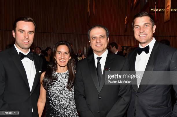 Michael Scherer Dalya Bharara Preet Bharara and Thomas Farley attend the 2017 TIME 100 Gala at Jazz at Lincoln Center on April 25 2017 in New York...