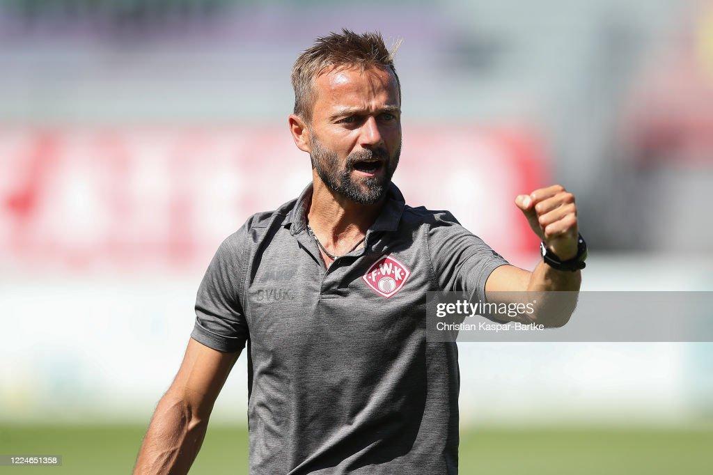 FC Wuerzburger Kickers v Hallescher FC - 3. Liga : News Photo