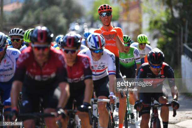 Michael Schär of Switzerland and CCC Team / Bunny joke / Peloton / during the 46th Volta ao Algarve 2020, Stage 1 a 195,6km stage from Portimão to...