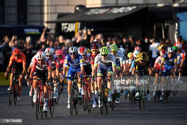 Michael Schär of Switzerland and CCC Team / Thomas De Gendt of Belgium and Team Lotto Soudal / Maxime Monfort of Belgium and Team Lotto Soudal /...
