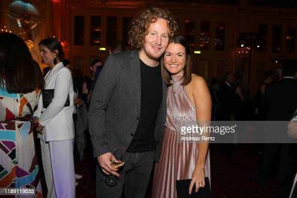 Michael Schulte and Katharina Schulte attend the Tribute To Bambi after show party at Kurhaus BadenBaden on November 20 2019 in BadenBaden Germany