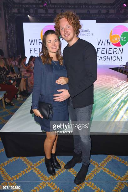 Michael Schulte andhis wife Katharina Schulte during the Ernsting's Family Fashion event on June 18 2018 in Hamburg Germany